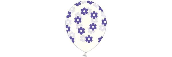 Ballons mit Blumen Aufdruck