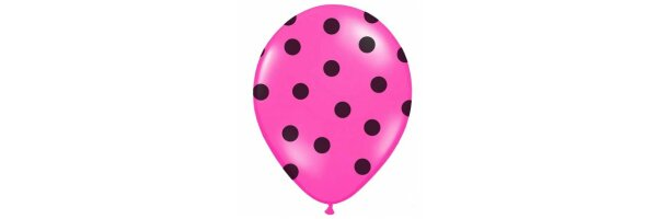 Gepunktete Luftballons