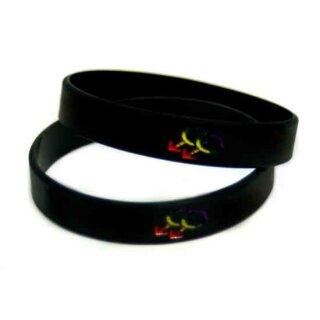 Armband schwarz Doppel-Männlich-Symbol