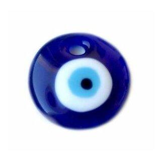 Blauer Glas-Anhänger Rund 30mm Blaues Auge