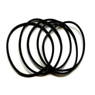 Schwarzes Kunststoff Armband dehnbar 6-8cm Durchmesser