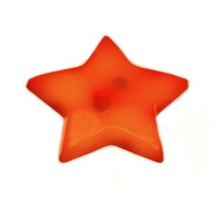 20 Sternknöpfe 2cm 2-Loch in Orange