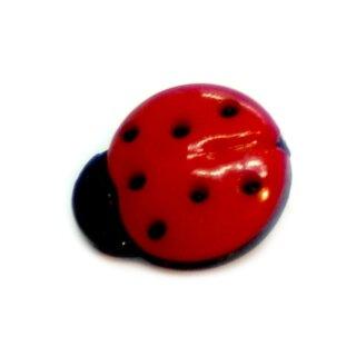 Marienkäfer-Knöpfe in Rot-Schwarz 15mm*13mm