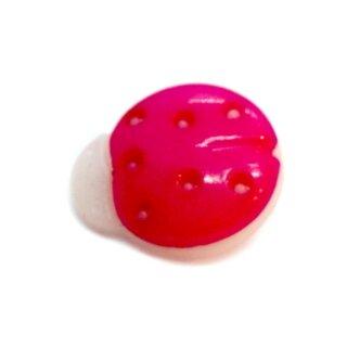 Marienkäfer-Knöpfe in Pink-Weiß 15mm*13mm