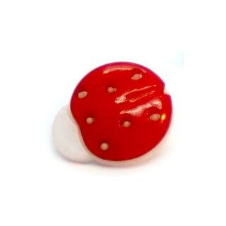 Marienkäfer-Knöpfe in Rot-Weiß 15mm*13mm