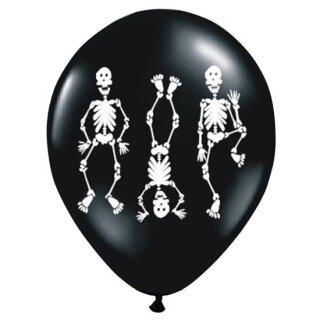 Happy-Skelett Ballons Latex / Heliumgeeigne
