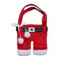 Tischdekoration Weihnachtsmann-Hose für Besteck