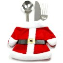 Tischdeko Weihnachts-Besteck Mantel + Hose
