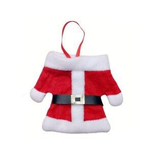 2er Pack Tischdeko Weihnachtsmantel für Besteck