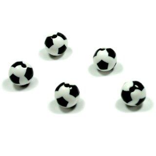 50 Fußball-Perlen 16mm Sport zum Basteln für Kinder