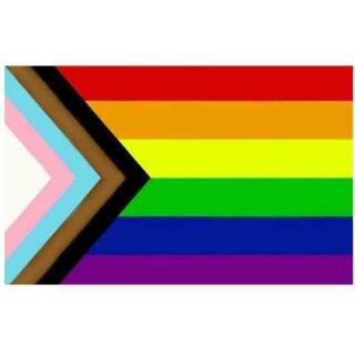 Regenbogen + Trans* Flagge 60*90cm D.Quasar