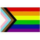 Regenbogen + Trans* Flagge 60*90cm D.Quasar Fortschritt