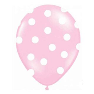 Farbige Ballons Rosa mit weißen Punkten/ Dot