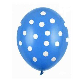 Farbige Ballons Dunkelblau mit weißen Punkten