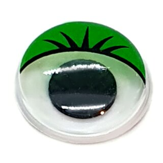 Wackelaugen grüne Wimpern 12mm Selbstklebend