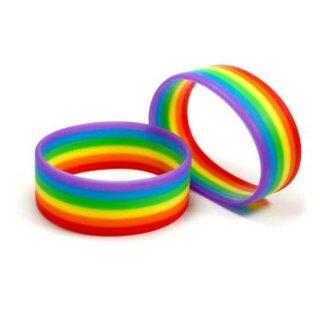 Regenbogen Silikon-Armband Horizontal