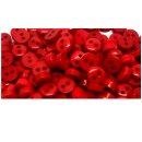 50 Mini-Knöpfe Mix Rot-Weiß-Hellgrün-Dunkelgrün 6mm