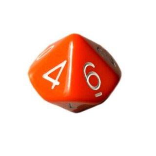 10 Seitige Würfel Orange weiße Zahlen 0-9
