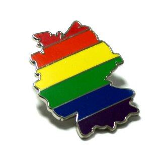 Regenbogen-Flagge Deutschland-Umriss Pin LGBT