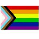 10 Regenbogen + Trans* Flagge 90*150cm Redesign