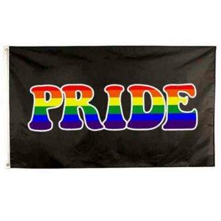 "Schwarze Pride-Flagge""PRIDE"" 90 x150cm Stolz PRIDE/ CSD"