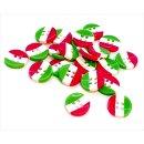 10 kleine Italien-Flaggen Knöpfe Italienisch 12mm