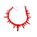 Blut-Halskette Horror Schmuck zu Halloween/Fasching