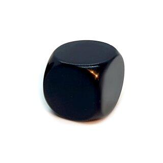 Blanko-Würfel Schwarz mit runden Ecken W6