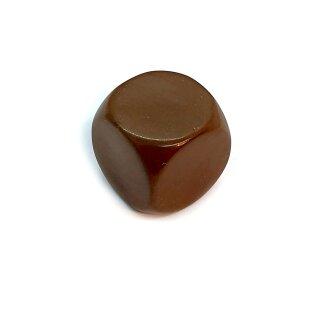 Blanko-Würfel Braun mit runden Ecken W6