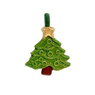 Mini Weihnachtsbaum Anhänger grün lackiert