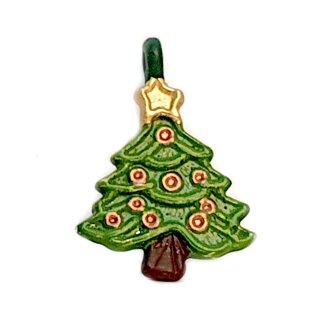 Mini Weihnachtsbaum Anhänger grün lackiert K.Kugeln