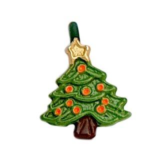 Mini Weihnachtsbaum Anhänger grün lackiert O.Kugeln