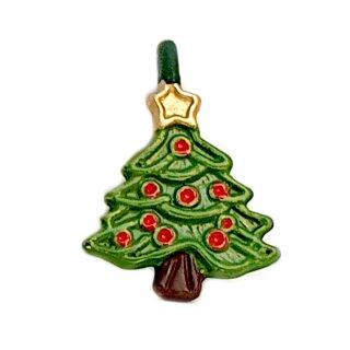 Mini Weihnachtsbaum Anhänger grün lackiert R.Kugeln