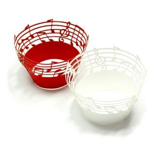 Noten Musik Cupcake Muffin Deko Weiß