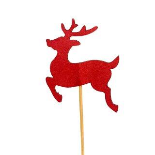 Cupcake-Topper kleiner Reh-Bock in Rot