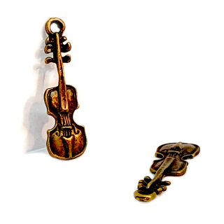 Mini Geige Anhänger unlackiert