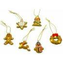 Lebkuchen-Mänchen Figuren für Weihnachten Weinhachts-Kranz