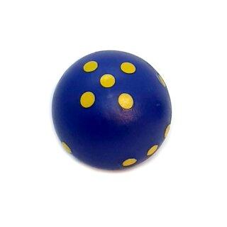 Runde Würfel bunt mit Punkten Blau - Gelb