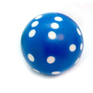 Runde Würfel bunt mit Punkten Blau - Weiß