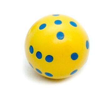 Runde Würfel bunt mit Punkten Gelb - Blau