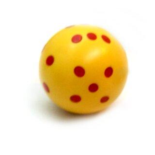 Runde Würfel bunt mit Punkten Gelb - Rot