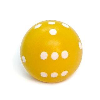 Runde Würfel bunt mit Punkten Gelb - Weiß