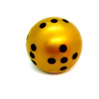 Runde Würfel bunt mit Punkten Gold - Schwarz