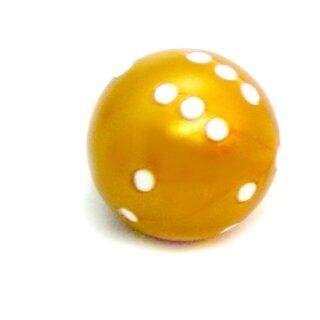 Runde Würfel bunt mit Punkten Gold - Weiß