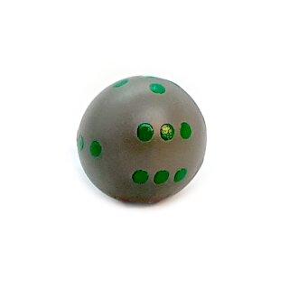 Runde Würfel bunt mit Punkten Grau - Grün