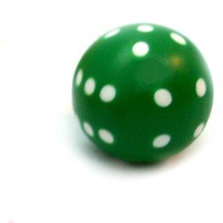 Runde Würfel bunt mit Punkten Grün - Weiß