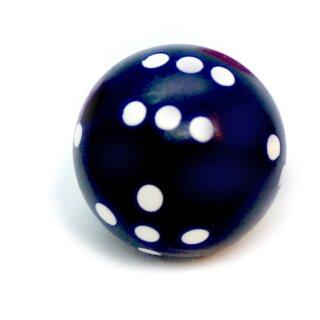 Runde Würfel bunt mit Punkten Nacht-Blau - Weiß