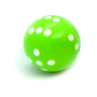 Runde Würfel bunt mit Punkten Neon-Grün - Weiß