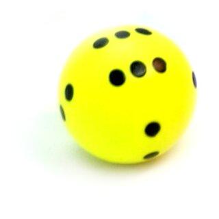 Runde Würfel bunt mit Punkten Neon-Gelb - Schwarz