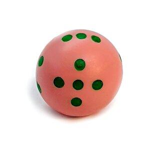 Runde Würfel bunt mit Punkten Rosa - Grün